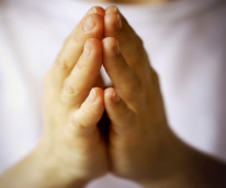 picture of hands folded in prayer